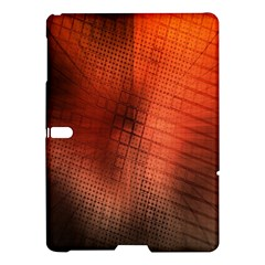 Background Technical Design With Orange Colors And Details Samsung Galaxy Tab S (10 5 ) Hardshell Case  by Simbadda