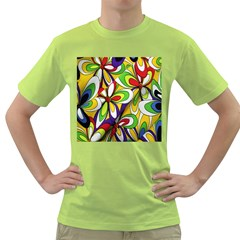 Colorful Textile Background Green T Shirt by Simbadda