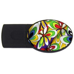 Colorful Textile Background Usb Flash Drive Oval (4 Gb) by Simbadda