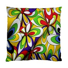 Colorful Textile Background Standard Cushion Case (one Side) by Simbadda