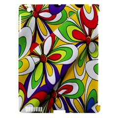 Colorful Textile Background Apple Ipad 3/4 Hardshell Case (compatible With Smart Cover) by Simbadda