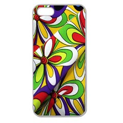 Colorful Textile Background Apple Seamless Iphone 5 Case (clear) by Simbadda