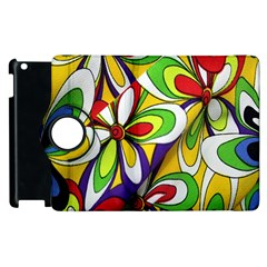 Colorful Textile Background Apple Ipad 2 Flip 360 Case