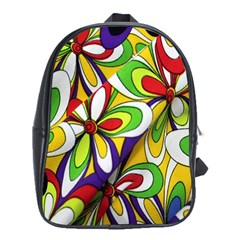 Colorful Textile Background School Bags (xl)  by Simbadda