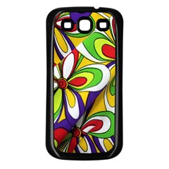Colorful Textile Background Samsung Galaxy S3 Back Case (black)