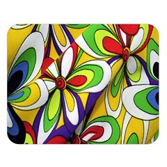 Colorful Textile Background Double Sided Flano Blanket (large)  by Simbadda