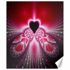 Illuminated Red Hear Red Heart Background With Light Effects Canvas 20  X 24   by Simbadda