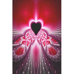 Illuminated Red Hear Red Heart Background With Light Effects 5 5  X 8 5  Notebooks