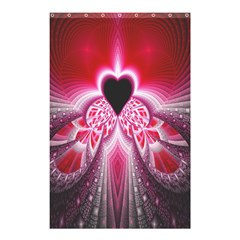 Illuminated Red Hear Red Heart Background With Light Effects Shower Curtain 48  X 72  (small)  by Simbadda