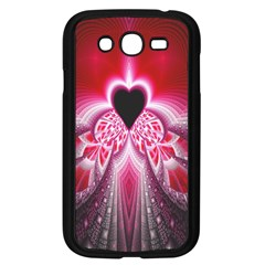 Illuminated Red Hear Red Heart Background With Light Effects Samsung Galaxy Grand Duos I9082 Case (black) by Simbadda