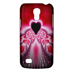 Illuminated Red Hear Red Heart Background With Light Effects Galaxy S4 Mini by Simbadda