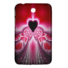 Illuminated Red Hear Red Heart Background With Light Effects Samsung Galaxy Tab 3 (7 ) P3200 Hardshell Case  by Simbadda