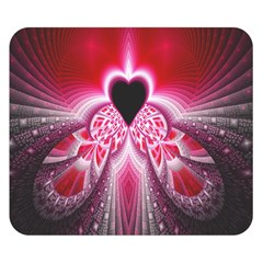 Illuminated Red Hear Red Heart Background With Light Effects Double Sided Flano Blanket (small)