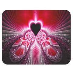 Illuminated Red Hear Red Heart Background With Light Effects Double Sided Flano Blanket (medium)  by Simbadda