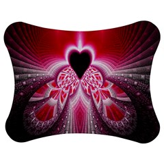 Illuminated Red Hear Red Heart Background With Light Effects Jigsaw Puzzle Photo Stand (bow) by Simbadda