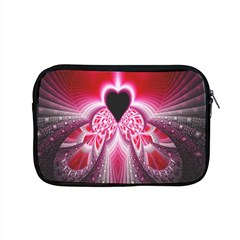 Illuminated Red Hear Red Heart Background With Light Effects Apple Macbook Pro 15  Zipper Case by Simbadda