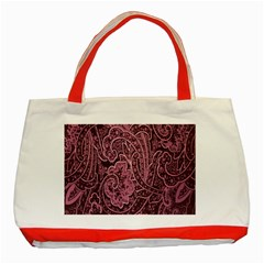 Abstract Purple Background Natural Motive Classic Tote Bag (red)