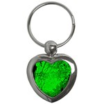 Leaf Outline Abstract Key Chains (Heart)  Front