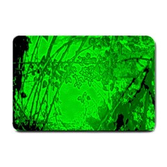 Leaf Outline Abstract Small Doormat  by Simbadda
