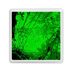 Leaf Outline Abstract Memory Card Reader (square)