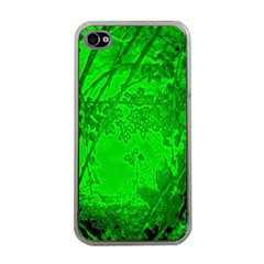 Leaf Outline Abstract Apple Iphone 4 Case (clear) by Simbadda