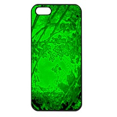 Leaf Outline Abstract Apple Iphone 5 Seamless Case (black) by Simbadda