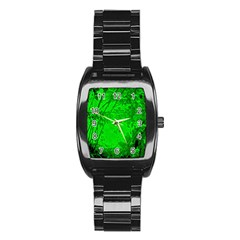 Leaf Outline Abstract Stainless Steel Barrel Watch by Simbadda