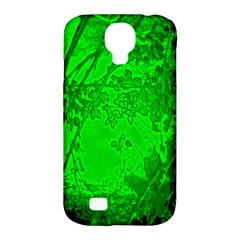 Leaf Outline Abstract Samsung Galaxy S4 Classic Hardshell Case (pc+silicone) by Simbadda