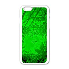 Leaf Outline Abstract Apple Iphone 6/6s White Enamel Case by Simbadda