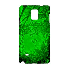 Leaf Outline Abstract Samsung Galaxy Note 4 Hardshell Case by Simbadda
