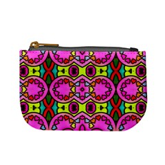 Colourful Abstract Background Design Pattern Mini Coin Purses by Simbadda