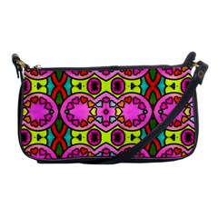 Colourful Abstract Background Design Pattern Shoulder Clutch Bags by Simbadda