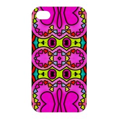Colourful Abstract Background Design Pattern Apple Iphone 4/4s Premium Hardshell Case by Simbadda