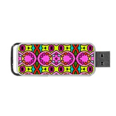 Colourful Abstract Background Design Pattern Portable Usb Flash (one Side) by Simbadda