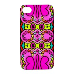 Colourful Abstract Background Design Pattern Apple Iphone 4/4s Hardshell Case With Stand by Simbadda