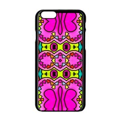 Colourful Abstract Background Design Pattern Apple Iphone 6/6s Black Enamel Case