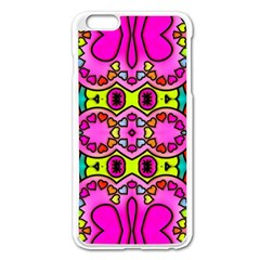 Colourful Abstract Background Design Pattern Apple Iphone 6 Plus/6s Plus Enamel White Case by Simbadda