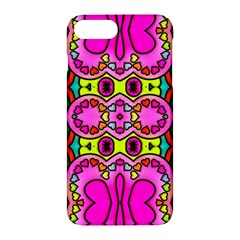 Colourful Abstract Background Design Pattern Apple Iphone 7 Plus Hardshell Case by Simbadda
