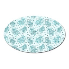 Decorative Floral Paisley Pattern Oval Magnet by TastefulDesigns