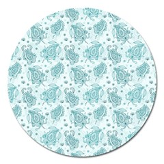 Decorative Floral Paisley Pattern Magnet 5  (round) by TastefulDesigns
