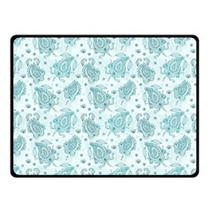 Decorative Floral Paisley Pattern Double Sided Fleece Blanket (small)  by TastefulDesigns