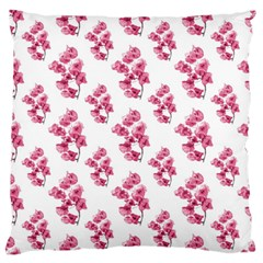 Santa Rita Flowers Pattern Large Flano Cushion Case (two Sides) by dflcprints