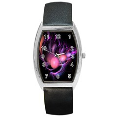 Fractal Image Of Pink Balls Whooshing Into The Distance Barrel Style Metal Watch by Simbadda