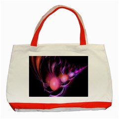 Fractal Image Of Pink Balls Whooshing Into The Distance Classic Tote Bag (red)