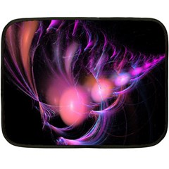 Fractal Image Of Pink Balls Whooshing Into The Distance Double Sided Fleece Blanket (mini)