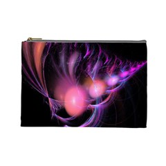 Fractal Image Of Pink Balls Whooshing Into The Distance Cosmetic Bag (large)  by Simbadda