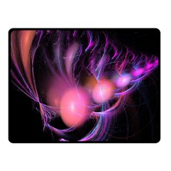 Fractal Image Of Pink Balls Whooshing Into The Distance Fleece Blanket (small) by Simbadda