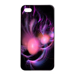 Fractal Image Of Pink Balls Whooshing Into The Distance Apple Iphone 4/4s Seamless Case (black) by Simbadda