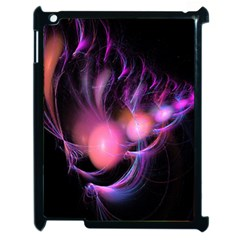 Fractal Image Of Pink Balls Whooshing Into The Distance Apple Ipad 2 Case (black) by Simbadda