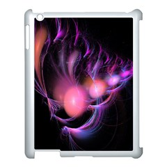 Fractal Image Of Pink Balls Whooshing Into The Distance Apple Ipad 3/4 Case (white) by Simbadda